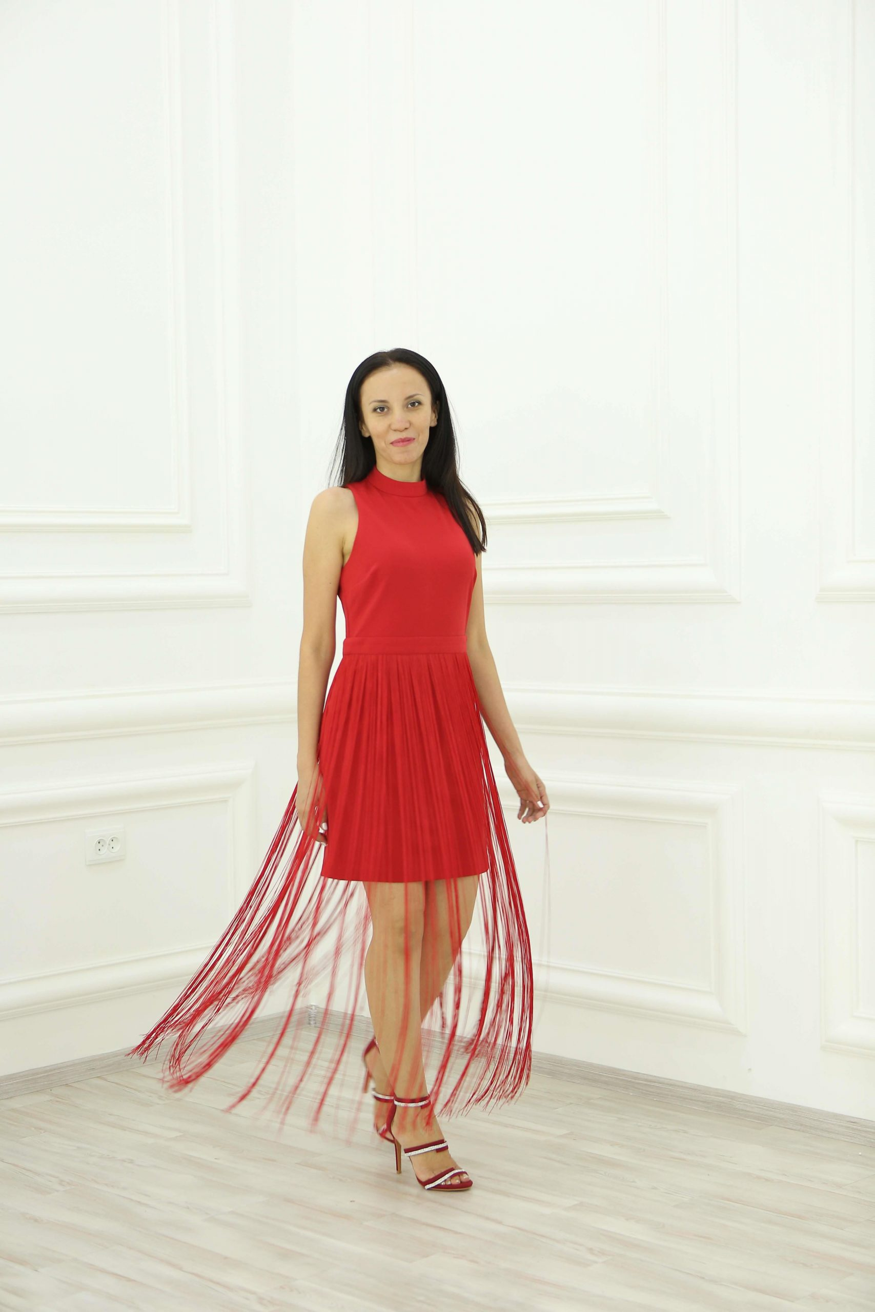 Red Evening Dress Total Red Outfit